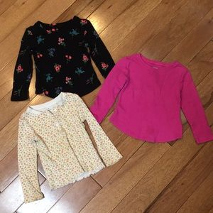 3 Old Navy girls long sleeve thermals